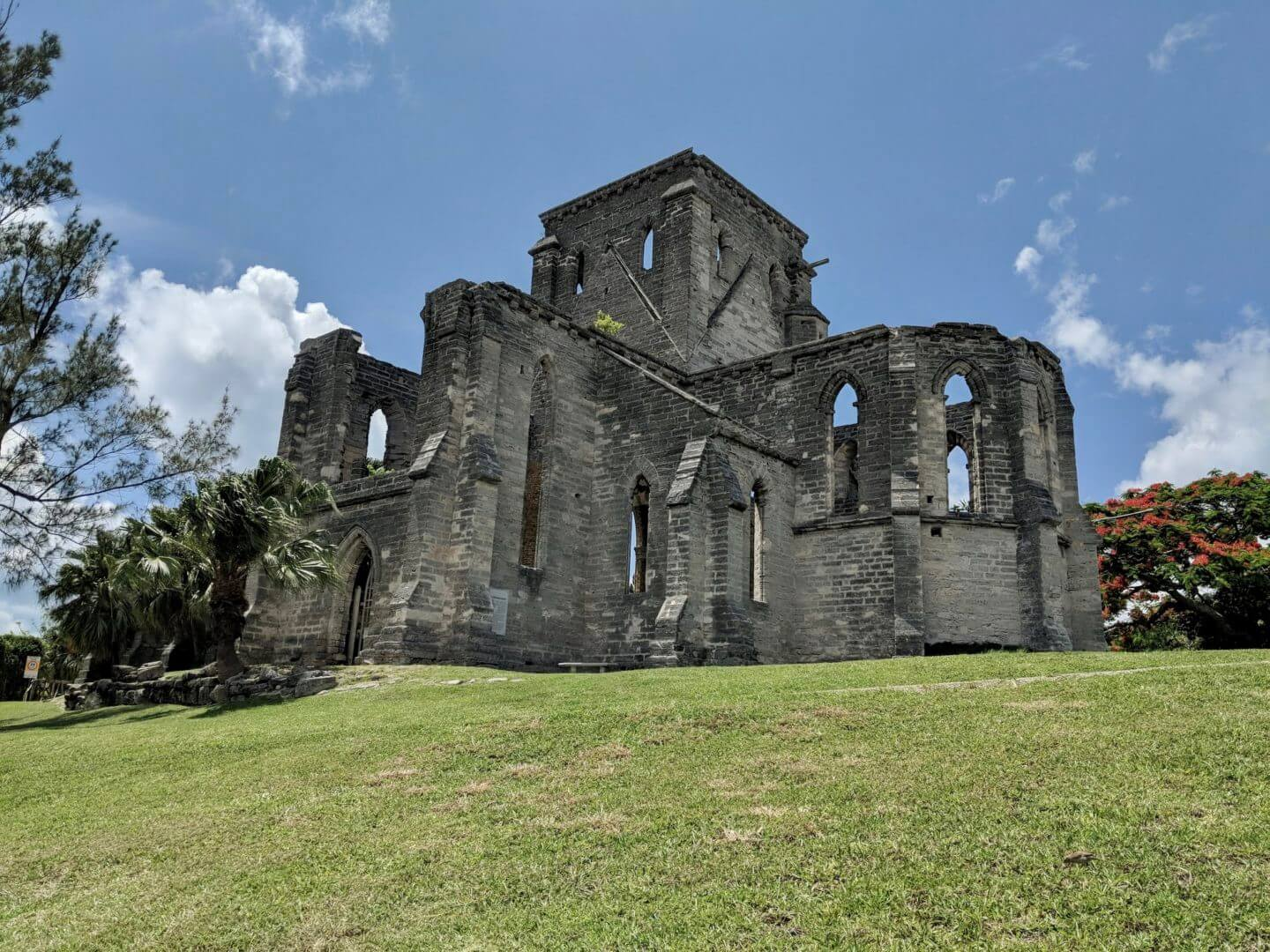 facade of the unfinished church