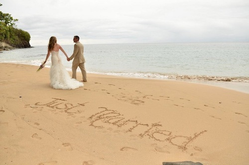just married in saint lucia