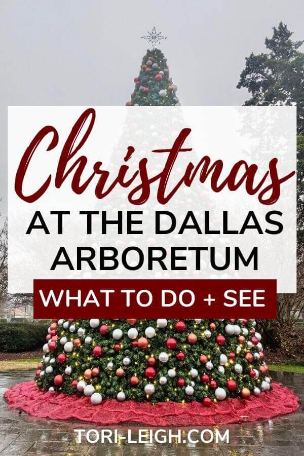 christmas at the dallas arboretum