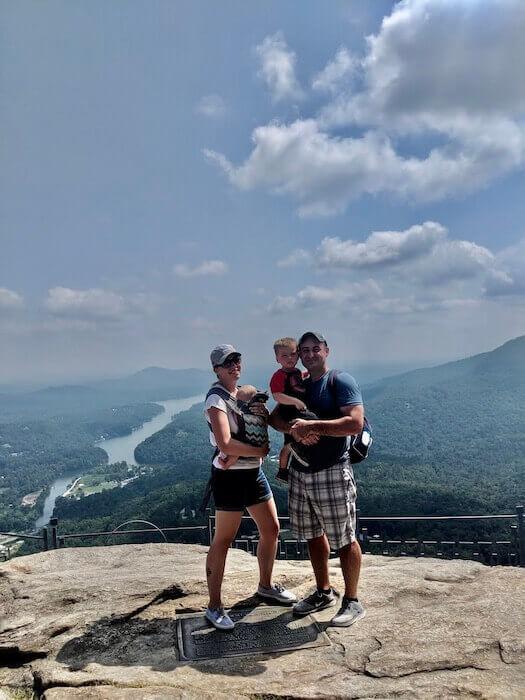 hiking chimney rock