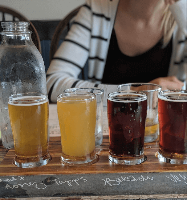texas craft beer flight