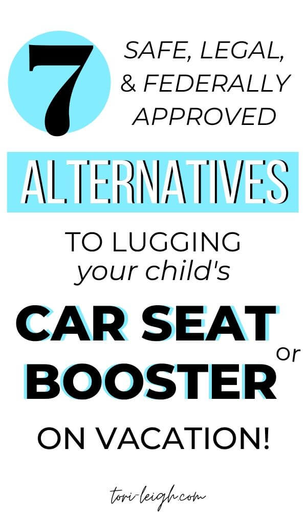 car seat and booster seat alternatives for travel with kids