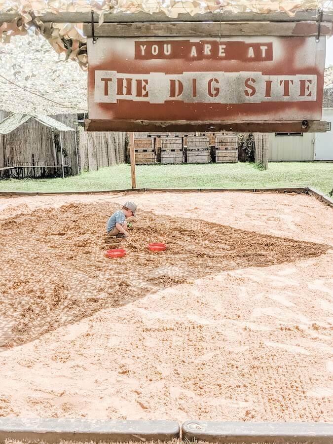 digging at Field Station Dinosaur