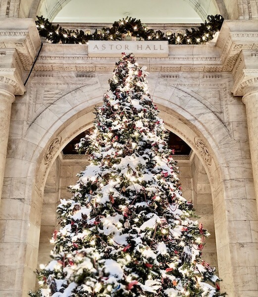 Visit the New York Public Library during the holidays for classic decor and cozy books.