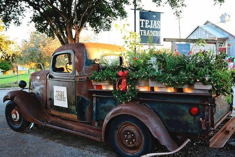 a small town christmas celebration in Gruene Texas