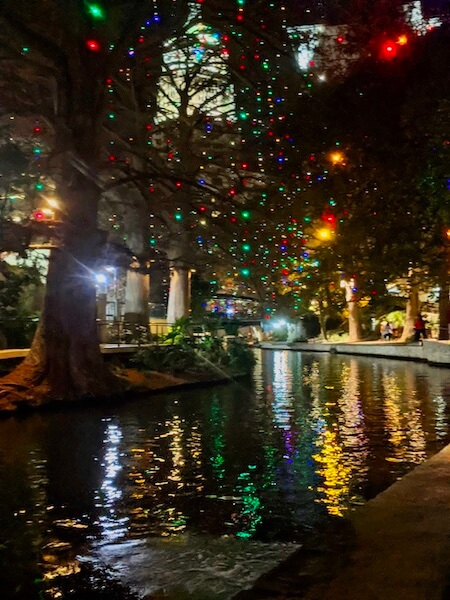 seeing the San Antonio riverwalk's thousands of lights is an absolute Christmas in Texas must