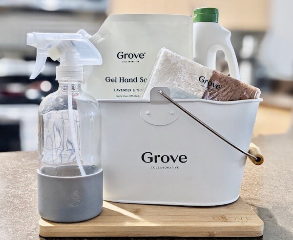 Grove Collaborative, a subscription service for household items delivers toiletries, paper goods, and more straight to your door.