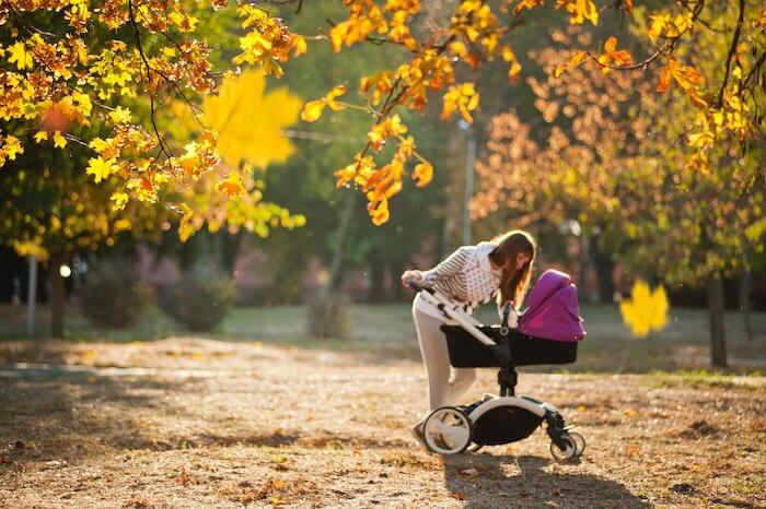 walking is an easy form of self care for moms that can be done with the kids