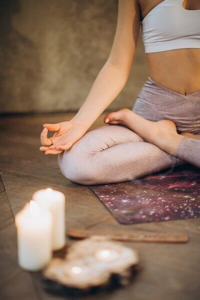 self care for moms can often start with a simple five minute yoga or meditation to feel grounded
