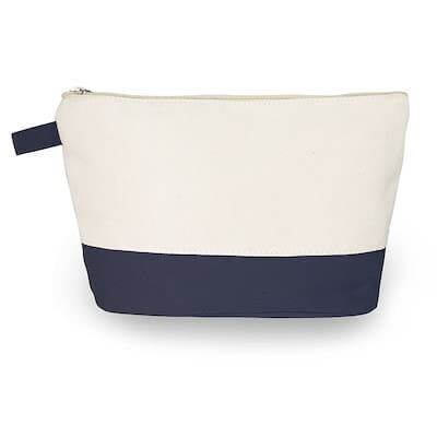 a small canvas toiletry or makeup bag holds your toiletries and takes up very little space in a minimalist hospital bag
