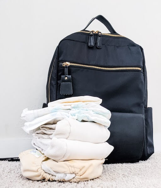 what's in my part time cloth diapering bag?