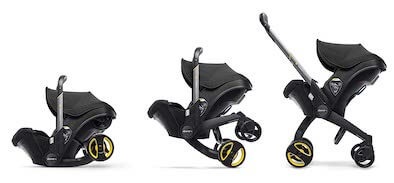 the Doona system is one of the best strollers for travel with an