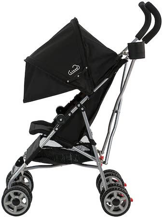 the kolcraft cloud umbrella stroller is great for travel