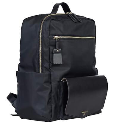 TWELVElittle peek-a-boo travel diaper backpack in black